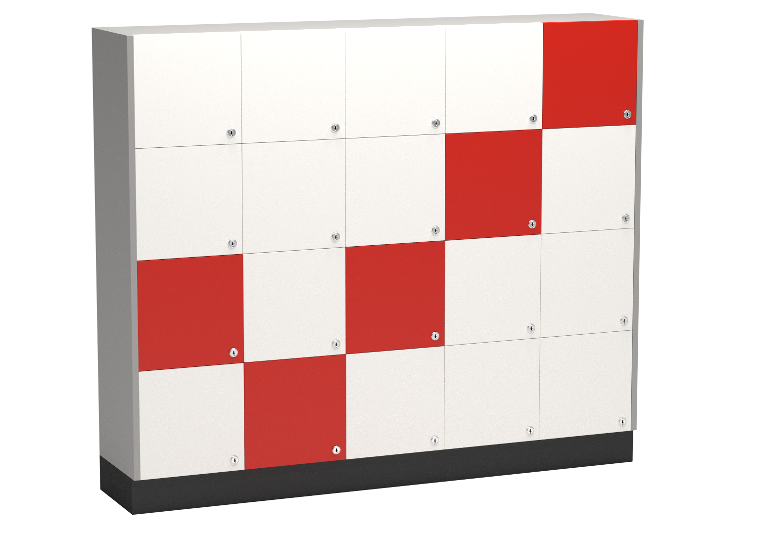Unilock Lockers 4 Door Square Lockers Melamine Storage
