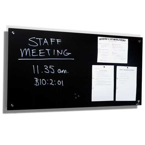 Magnetic Glass Board Black
