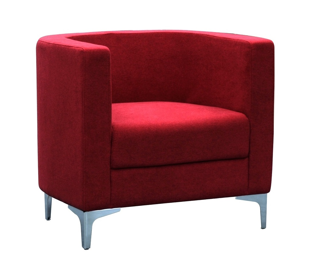 Komi Tub Chair Burgundy 1