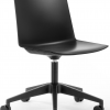 Sweep Chair On Castors Black Base