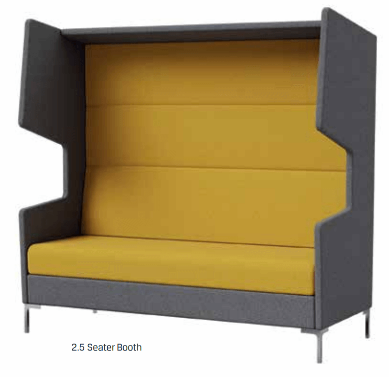 Chloe 2.5 Seater Lounge Booth