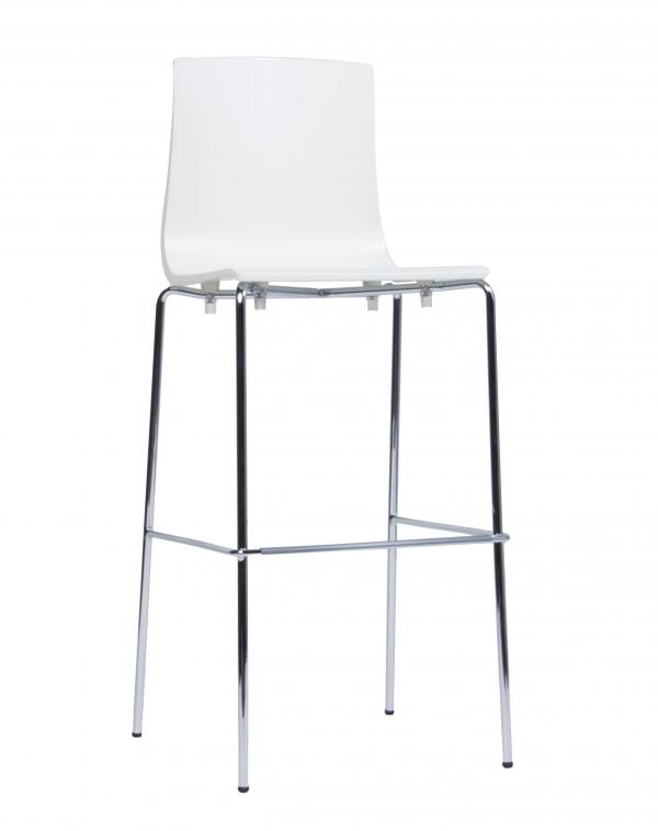 Aelen White Stool Metal Leg