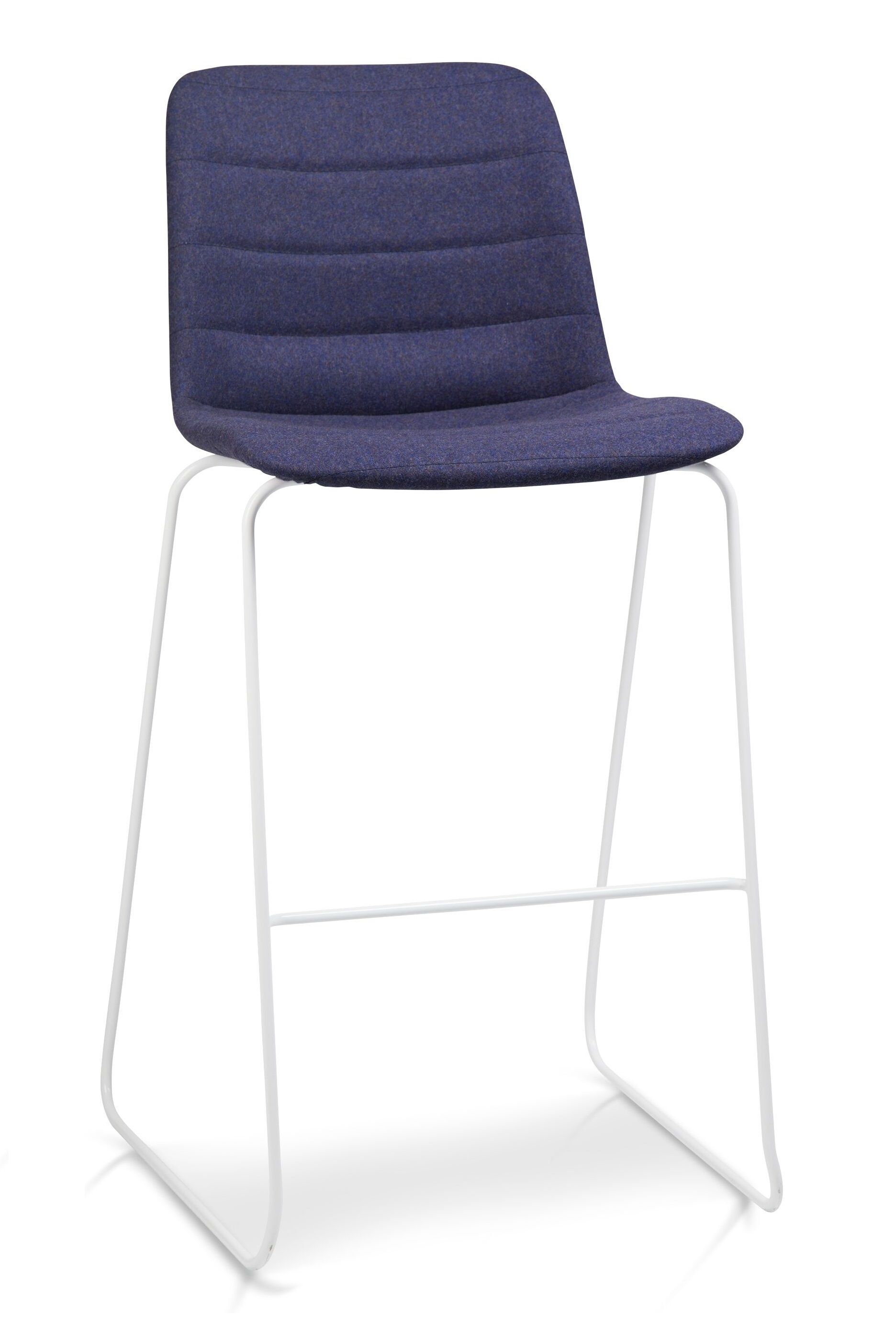 Unni Sled Quilted Stool Lunchroom Chair