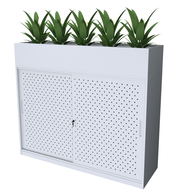 Bahn White Planter Box
