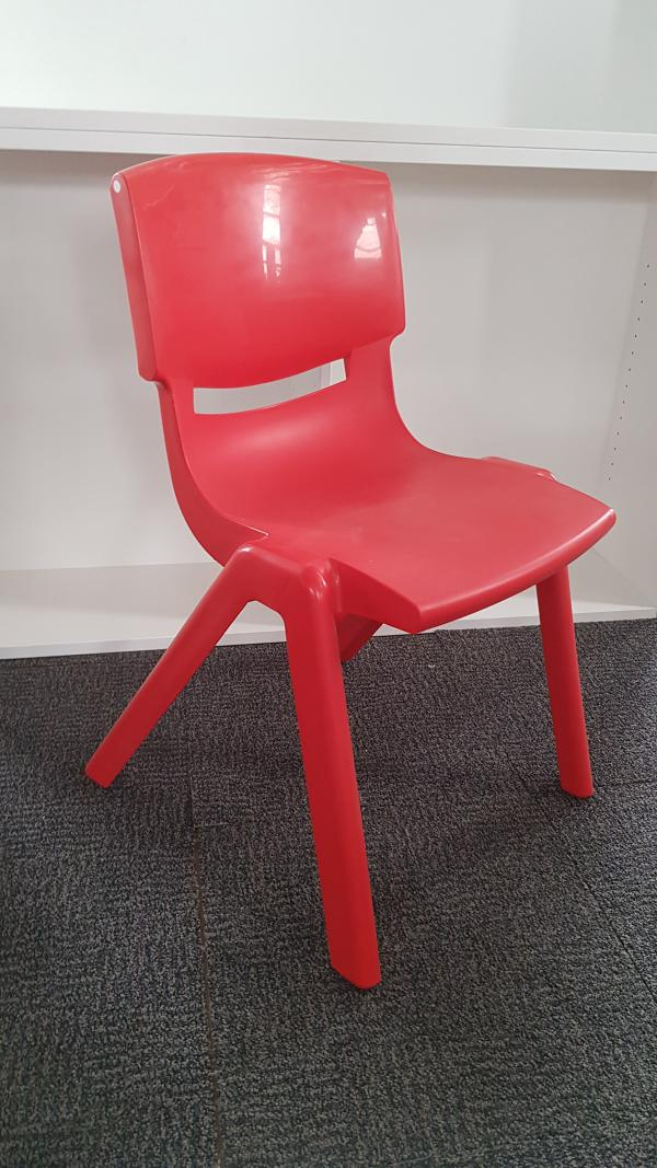 Red Plastic School Chair