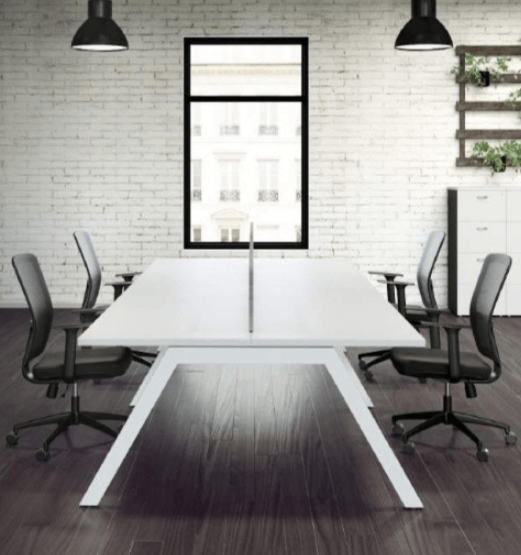 Banksia Straight Desk Cluster Of 4 No Screens
