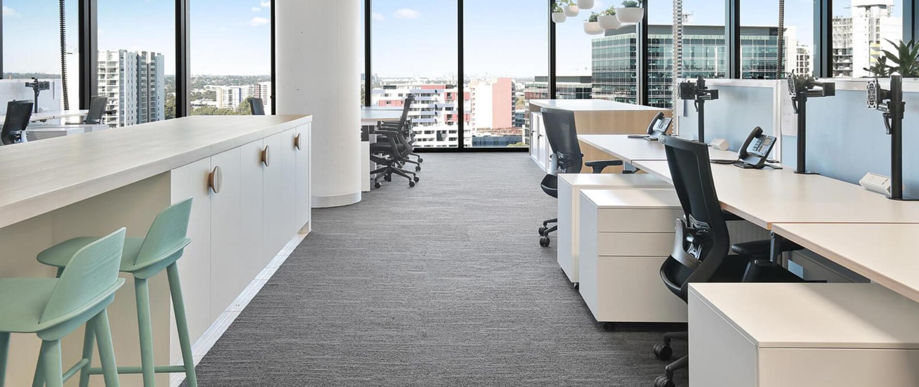 Manual Adjustable Desks With Fabric Screens