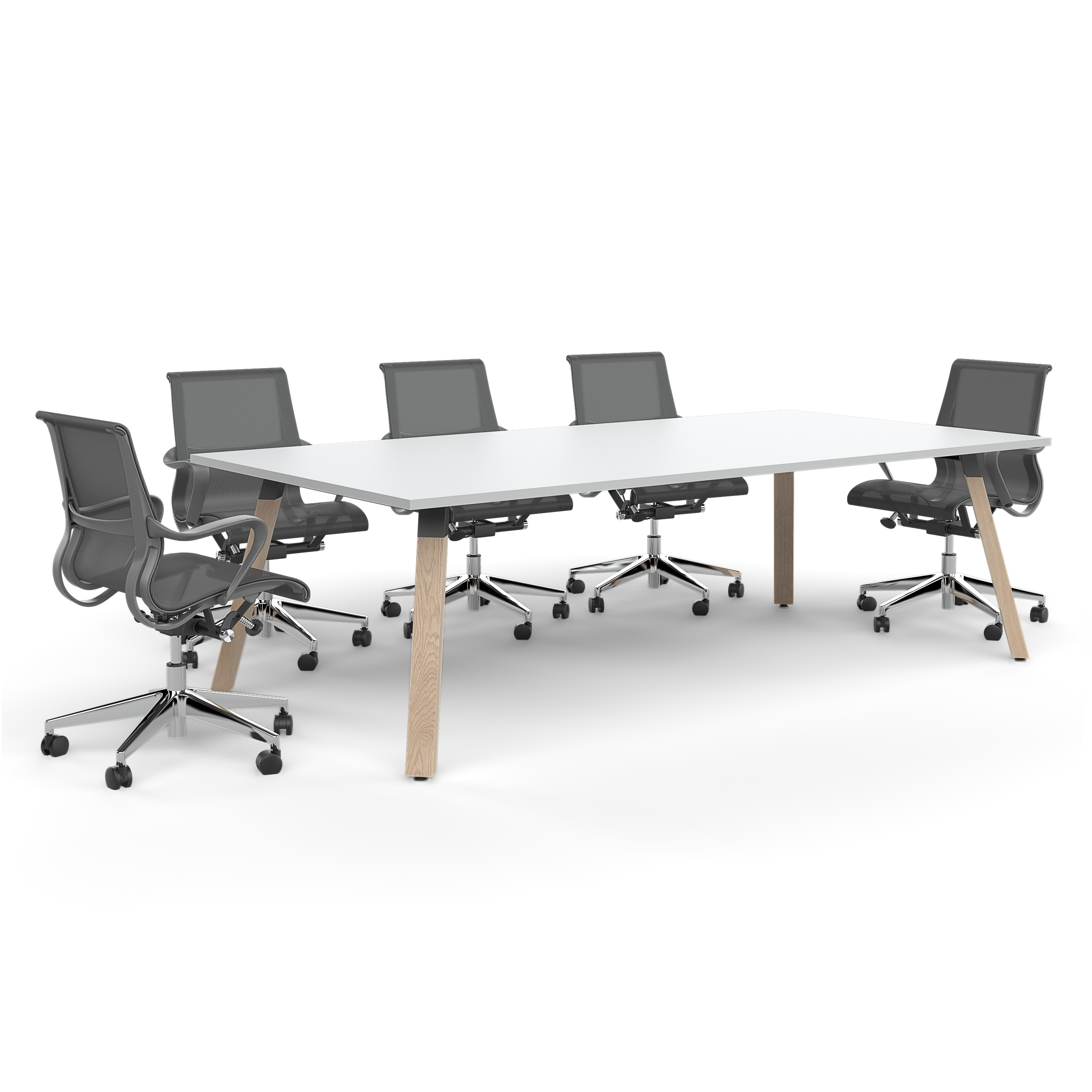 Nordic Meeting Table With Chairs
