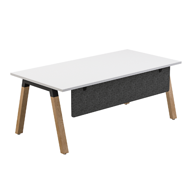 Nordic Rectangle Desk With Modesty Panel