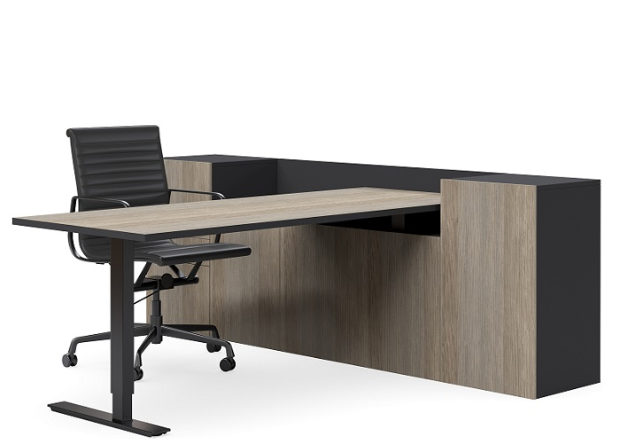 Swept Electric Standing Executive Desk