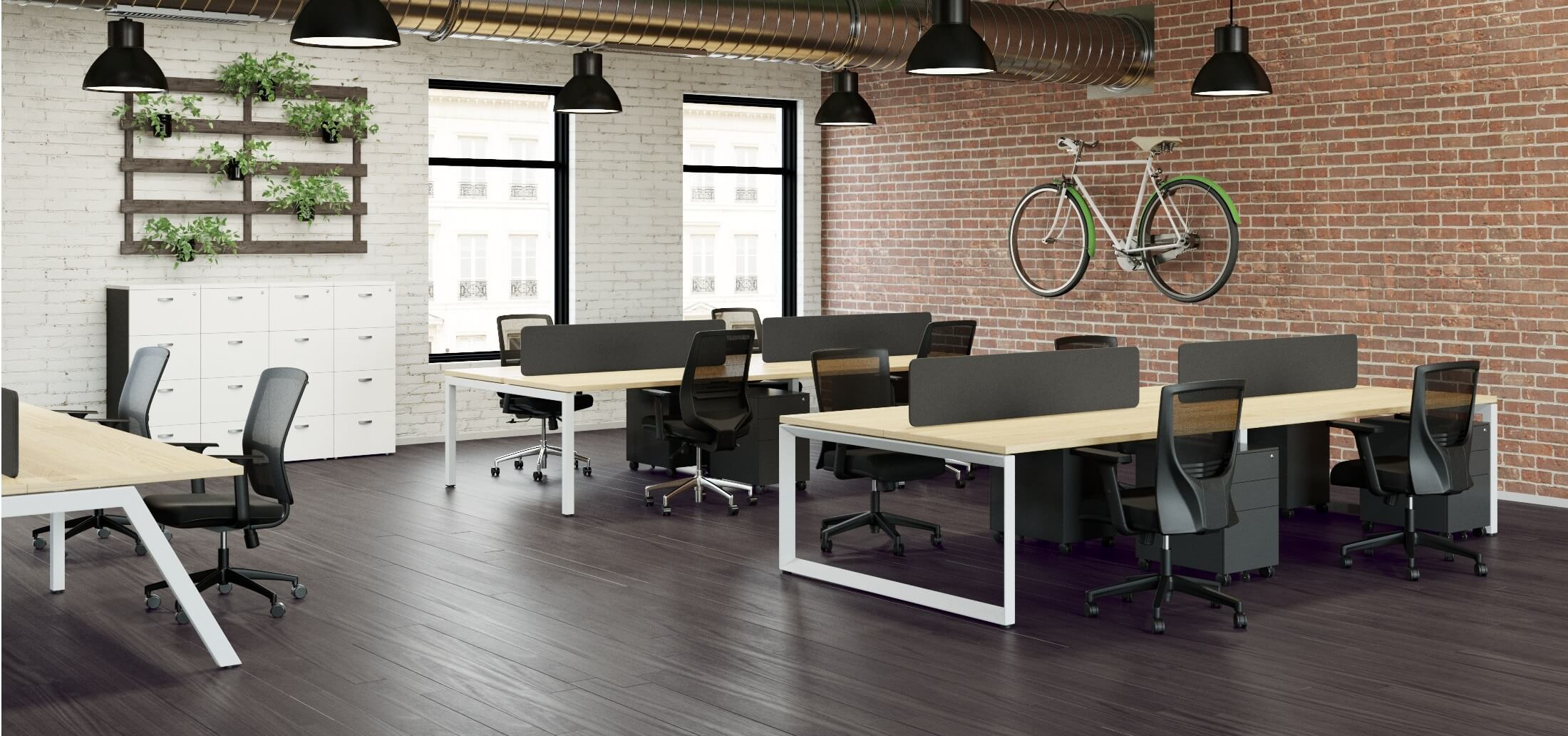 Workstation Desk Options With Screen Options