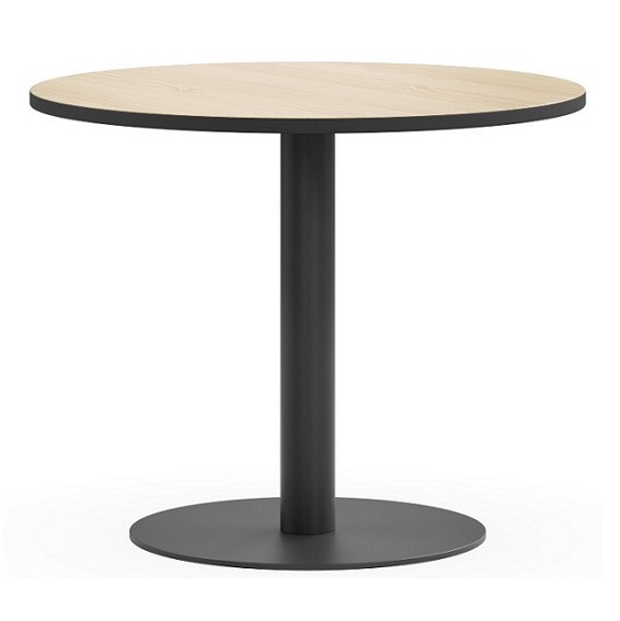 Disc Black Base Round Table